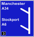 Two junctions in quick succession motorway sign Royalty Free Stock Photos