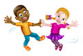 Two Kids Dancing Royalty Free Stock Photo