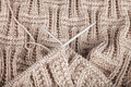 Two Knitting spokes Royalty Free Stock Image