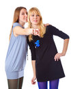 Two laugh teenage girls Royalty Free Stock Photo