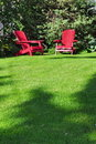 Two lawn chairs Stock Image