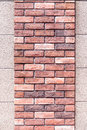 Two layer of small and big brick wall texture. Royalty Free Stock Photo