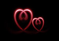 Two light heart sign Royalty Free Stock Photo