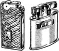Two lighters Stock Photography