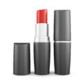 Two lipsticks isolated on white background. 3d rendering. Royalty Free Stock Photo