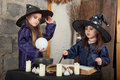 Two little witches Stock Image