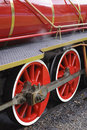 Two locomotive wheels Stock Images