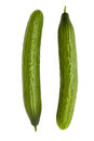 Two long cucumbers Stock Photography