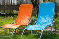 Two lounge chairs Stock Photos