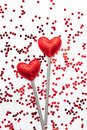 Two love magic wands. Valentine`s Day concept Royalty Free Stock Photo