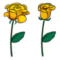 Two lovely flowers illustration of on a white background Royalty Free Stock Photos