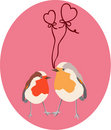 Two lovers birds Stock Images