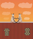 Two lovers cats on the roof Royalty Free Stock Image