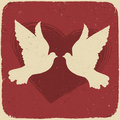 Two lovers doves. Royalty Free Stock Images