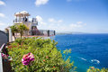 'Two lovers point' in Guam on clear day. Royalty Free Stock Photo
