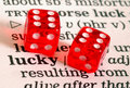 Two lucky dice Royalty Free Stock Photo