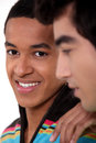 Two male students Royalty Free Stock Photo