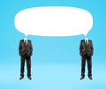 Two man with  bubbles speech Royalty Free Stock Photo
