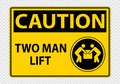 Two man lift Symbol Sign Isolate on transparent Background,Vector Illustration Royalty Free Stock Photo