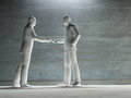 Two man about to shake hands art work Royalty Free Stock Images