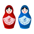 Two Matryoshka Stock Images