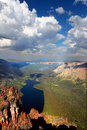 Two Medicine Lake from Mount Sinopah Royalty Free Stock Photo