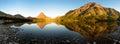 Two Medicine Lake Sunrise Panorama Royalty Free Stock Photo