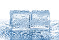 Two melted ice cubes Royalty Free Stock Photo