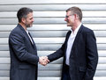 Two men shaking hands Royalty Free Stock Photo