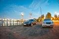 Two Mercedes E-Class w211 Royalty Free Stock Photo