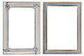 Two metal photoframes on a white background Royalty Free Stock Image