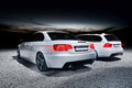 Two modern cars german white bmw cabrio bmw touring Stock Photo