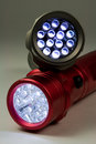 Two Modern LED Flashlights Stock Image