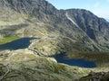 Dve horské jazerá