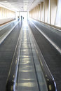 Two moving walkways to transport people Royalty Free Stock Images