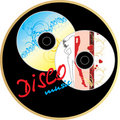 Two music disk. Sticker Stock Photo