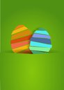 Two nice easter egg spring and pretty Stock Image