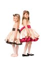 Two nice little girls in a dress Royalty Free Stock Photo