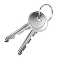Two nickel door keys Royalty Free Stock Photo