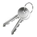 Two nickel door keys Royalty Free Stock Photo