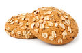 Two oat cookies Stock Images
