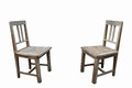 Two old chairs Royalty Free Stock Photo