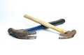 Two old hammers Royalty Free Stock Photo
