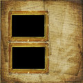 Two Old photoframe on the  abstract background Royalty Free Stock Images