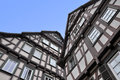 Two old typical half-timbered houses. Royalty Free Stock Photo