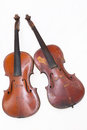 Two old violins Royalty Free Stock Photo