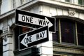 Two One Way Signs Royalty Free Stock Photo