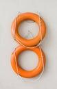 Two orange life rings Royalty Free Stock Photo