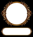 Two ornate retro frames Royalty Free Stock Photo