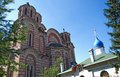 Two Orthodox churches: Serbian and Russian churches in Belgrade Royalty Free Stock Photo